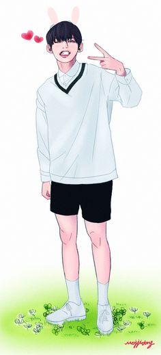 BTS Taehyung V fan art