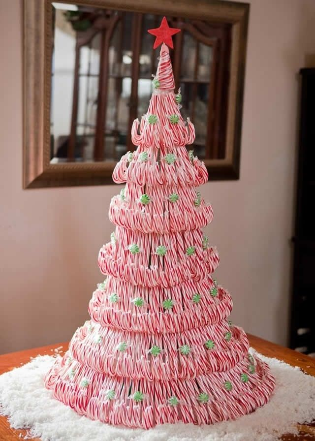 20 Awesome Christmas Tree Alternatives Christmas Centerpieces Diy Christmas Tree Candy Cane Crafts