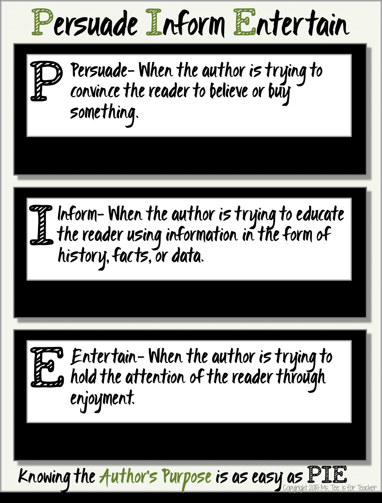 Author S Purpose Persuade Inform And Entertain