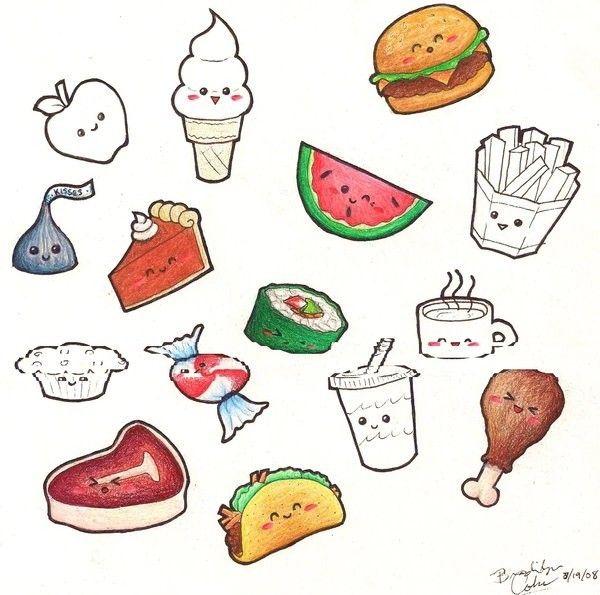 Dibujos De Kawaii Imagui Kawaii Cute Food Cute Food Drawings