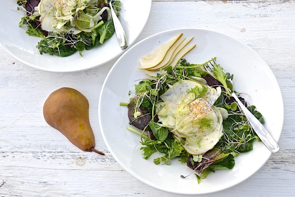Fennel and pear salad