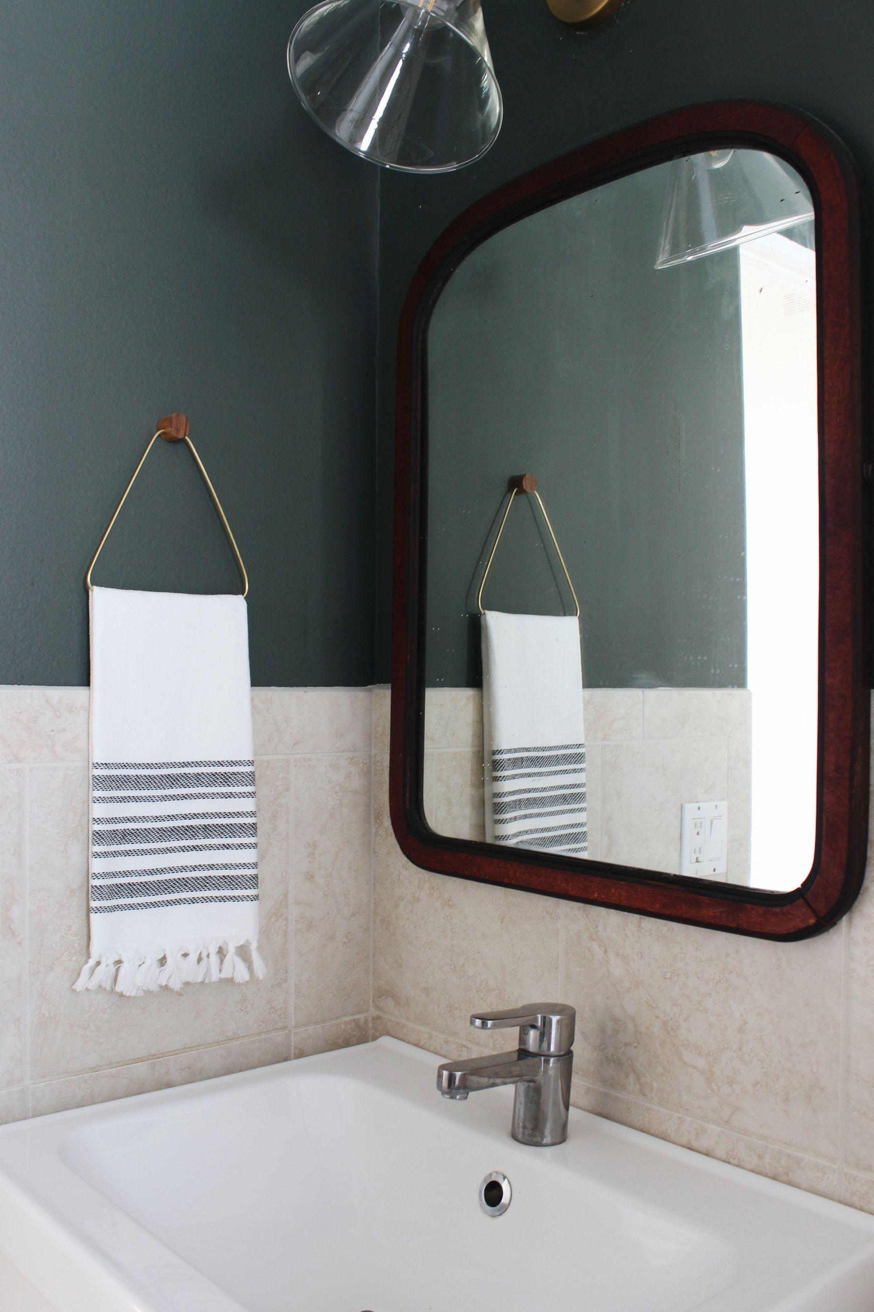 Diy Brass Hand Towel Holder Turning It Home Hand Towel Holder Bathroom Hand Towel Holder Hand Towels Bathroom