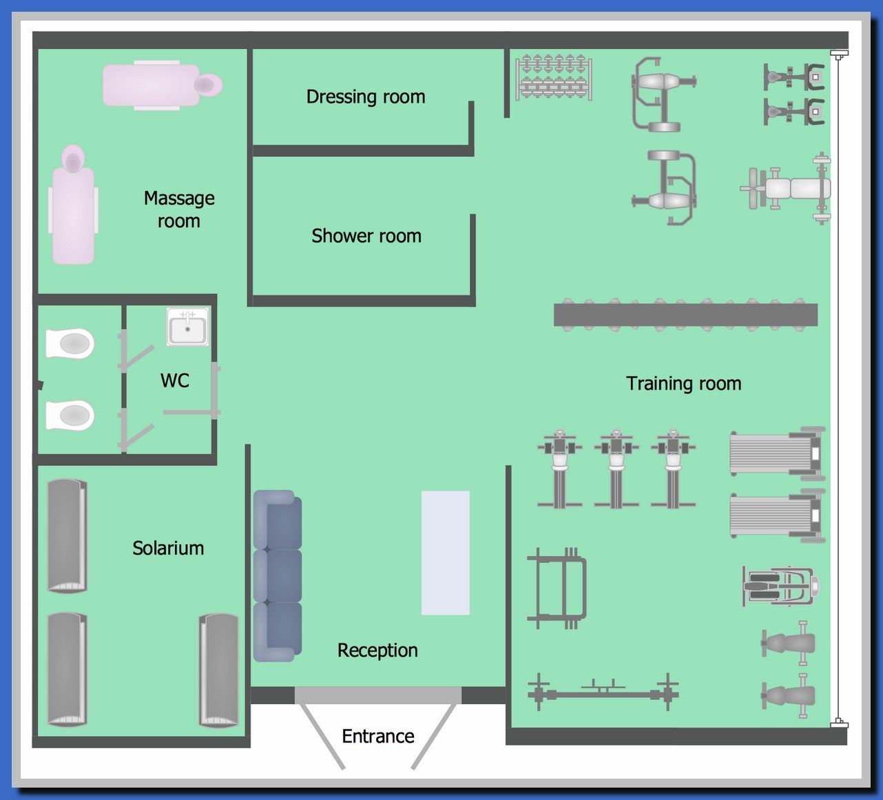 38 Reference Of Dressing Room Design Layout Floor Plans Gym Plans Floor Plans Floor Plan Layout