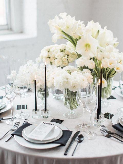 A Fresh Take On Black And White Wedding