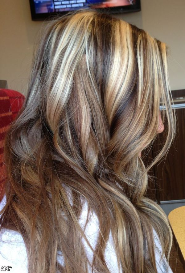 Blonde Hair With Brown Lowlights Pictures Dark Brown Hair With