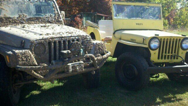 Father And Son Monster Trucks Jeep Antique Cars