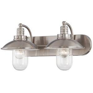 Minka Lighting M513284 Downtown Edison 2 Bulb Bathroom Brushed Nickel