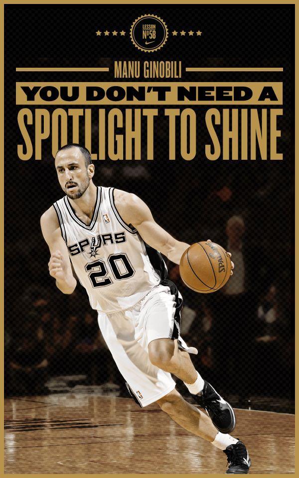 detailed pictures d068a 6eba0 NIKE Ginobili Poster | San Antonio | Manu ginobili, Spurs ...
