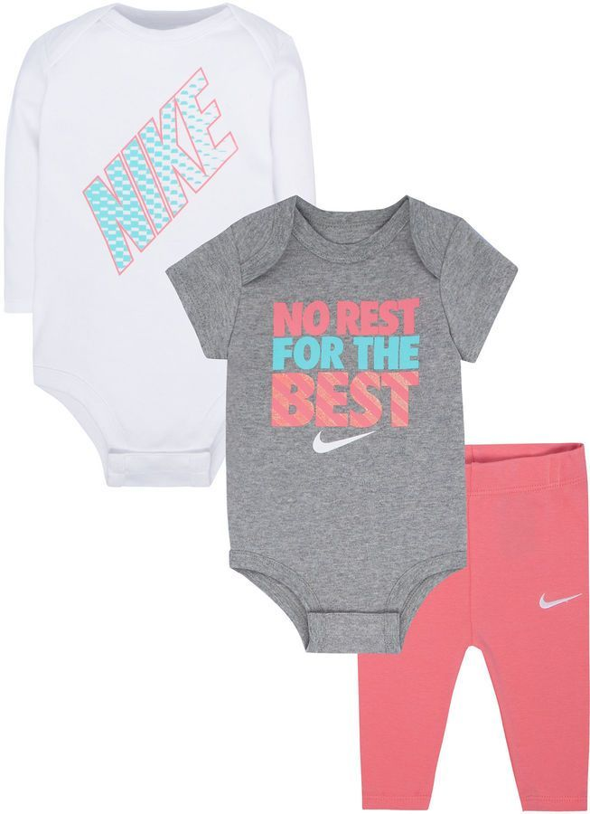 b17919082 Nike 3-pc. Pant Set Baby Girls | Products | Baby girl nike, Baby ...
