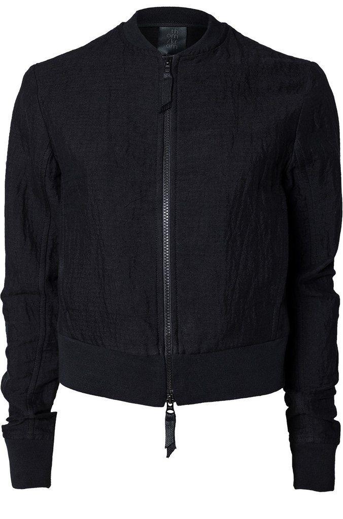 21d36397e Thom Krom | Linen blend bomber jacket | Black | Cloth and Bone ...