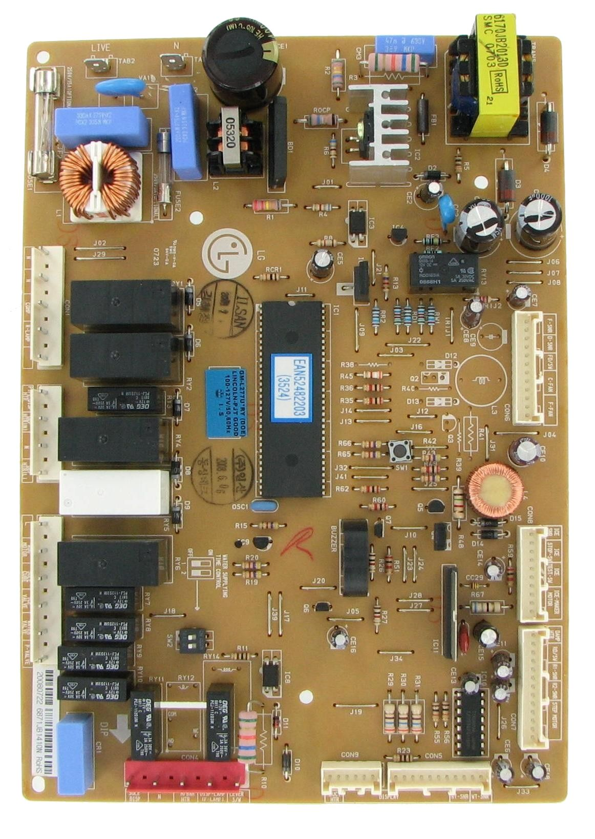 LG 6871JB1410N Refrigeration Electronic Control Board