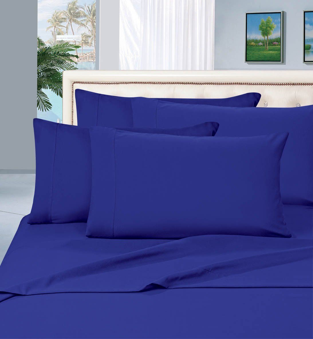 Elegant Comfort 1500 Thread Count Wrinkle Free 4 Pc Sheet Set Deep Pocket All Size And Colors Queen Royal Blue Walmart Com Bed Sheet Sets Bed Sheets Round Bed Sheet [ 1181 x 1093 Pixel ]