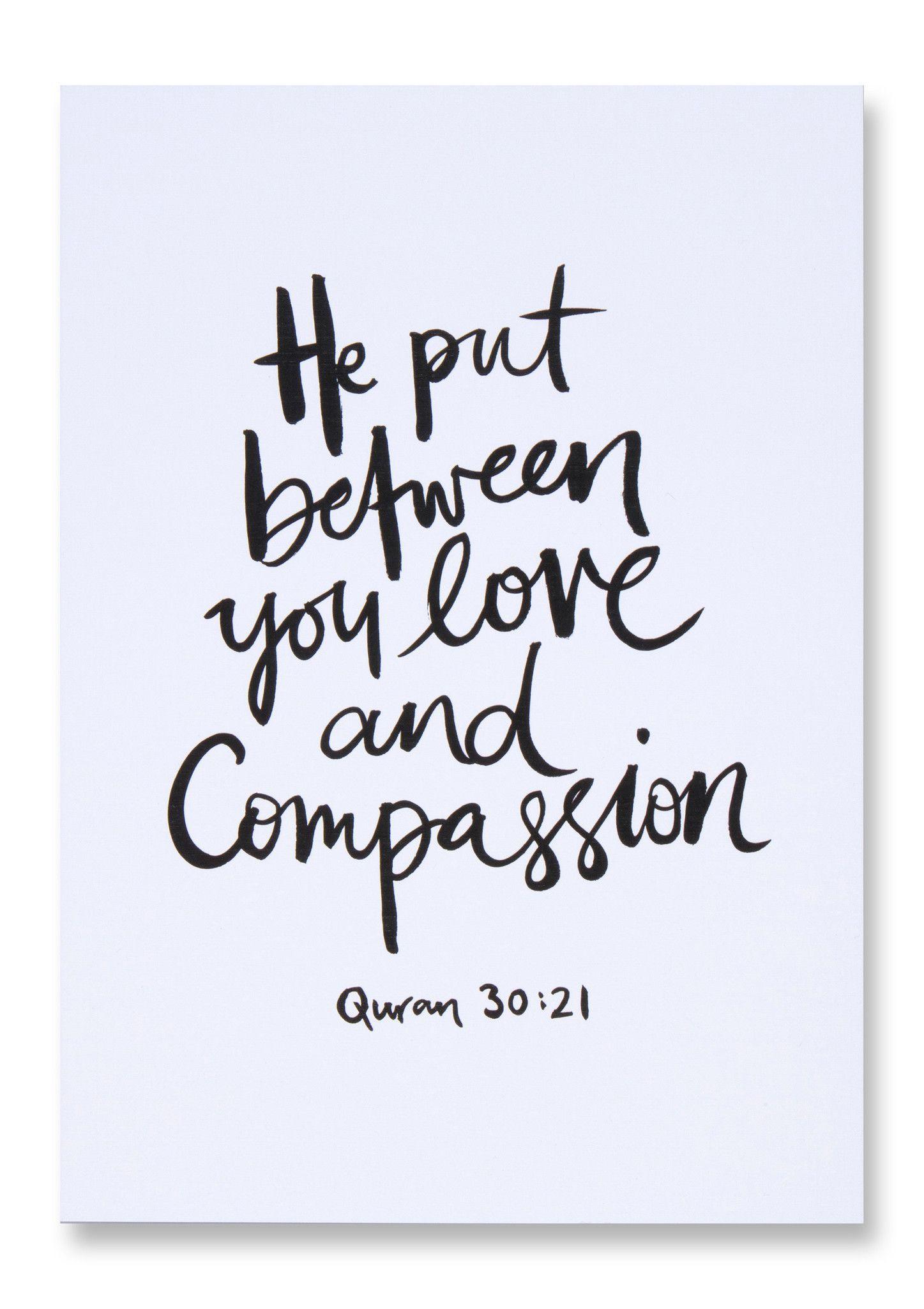 Citaten In Kunst : Love compassion islamic art print islam pinterest