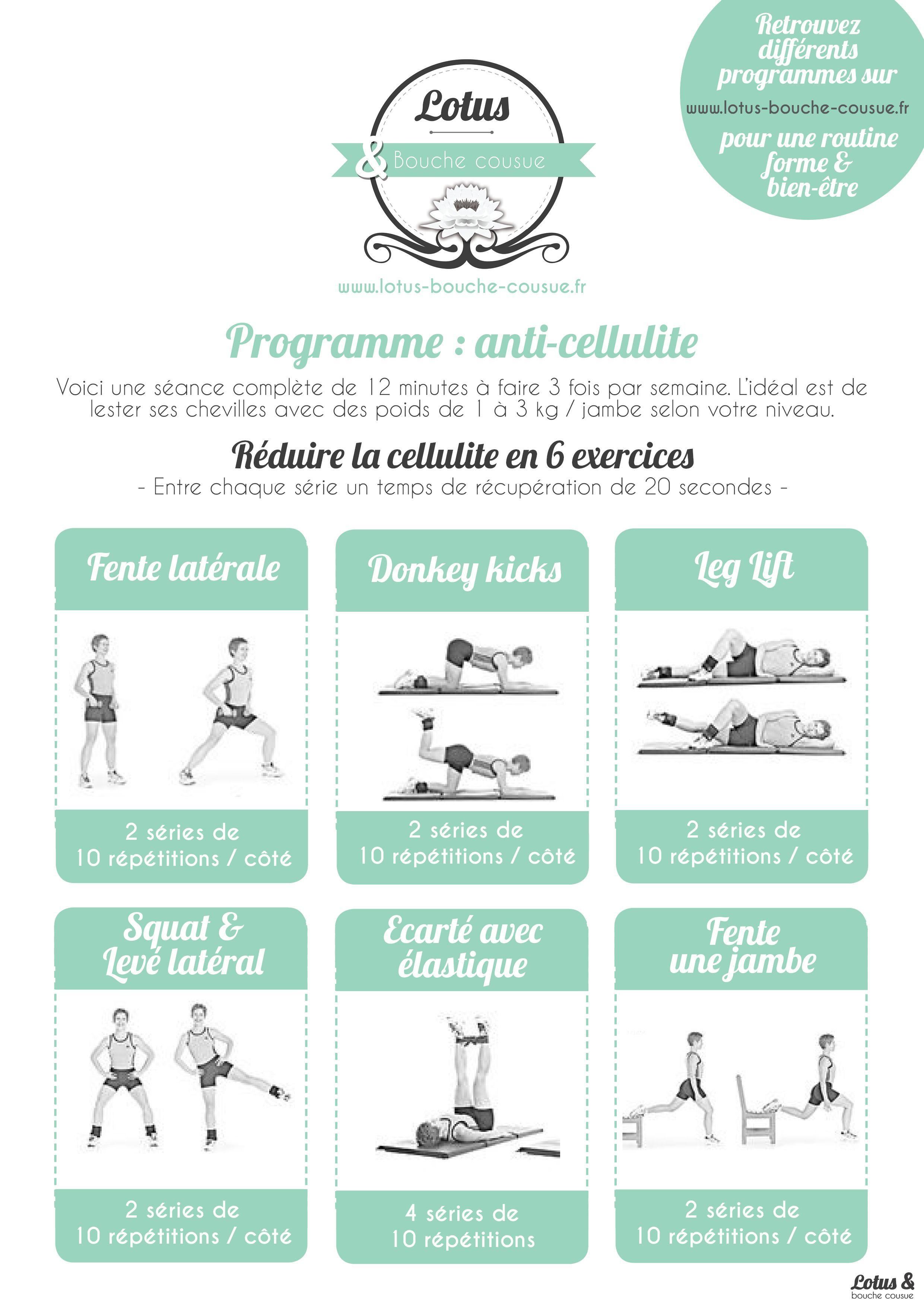 exercice contre cellulite fessier et cuisse