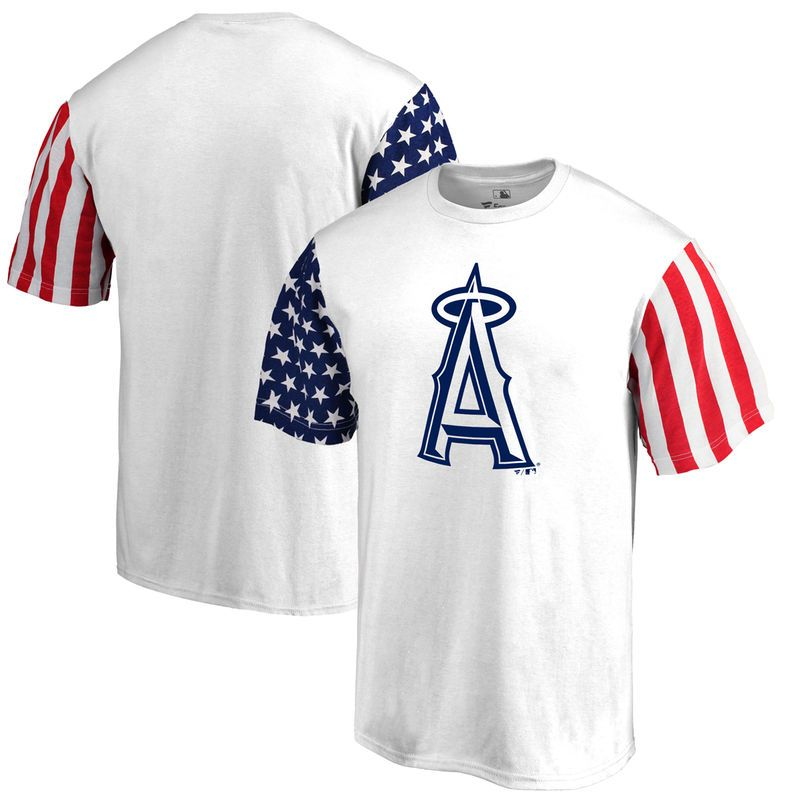 2c6ccd4f Los Angeles Angels Fanatics Branded Stars & Stripes T-Shirt - White ...