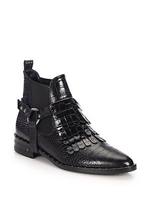 cheap sale with mastercard Freda Salvador Leather Embossed Ankle Boots outlet store cheap price clearance browse buy cheap the cheapest FK3ssTL