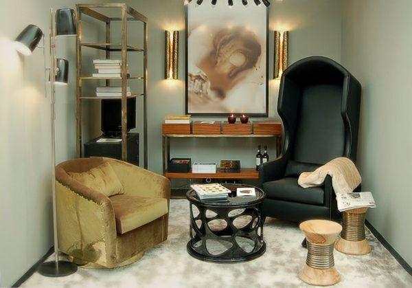 Perfect elegante Holzhocker kleines Wohnzimmer Einrichten