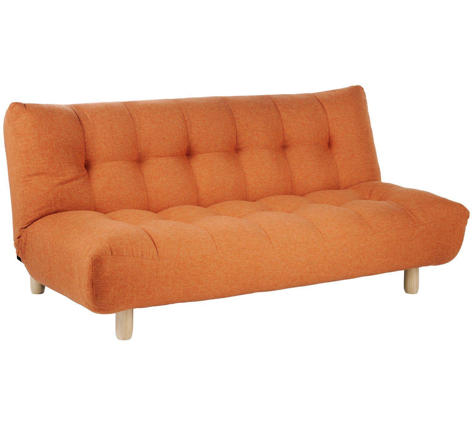 Buy Habitat Kota 3 Seater Fabric Sofa Bed Orange Sofa Beds Sofa Bed Orange Small Sofa Bed Fabric Sofa Bed