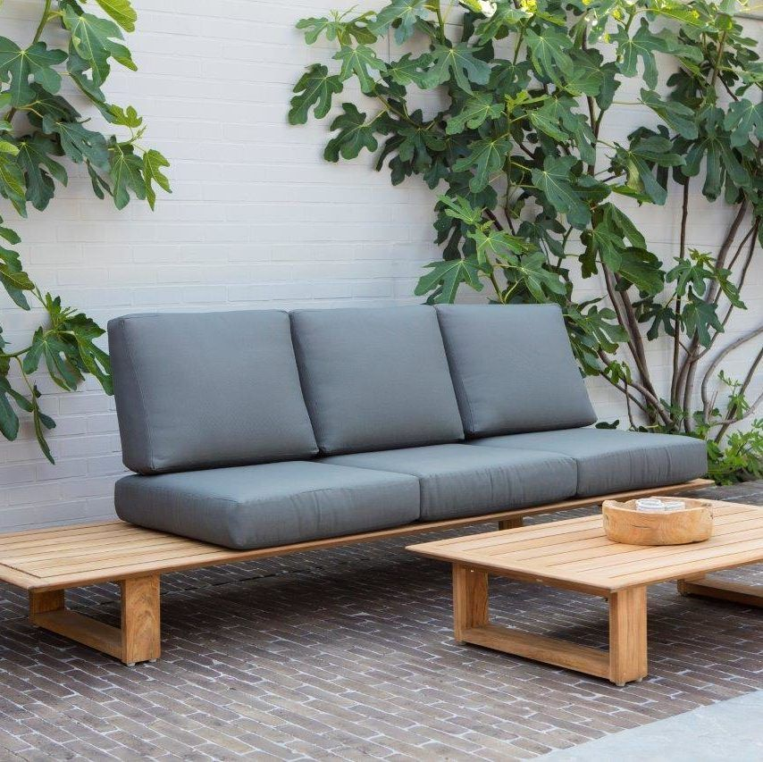 Armless Teak Outdoor Sectional Elano Teak Outdoor Furniture