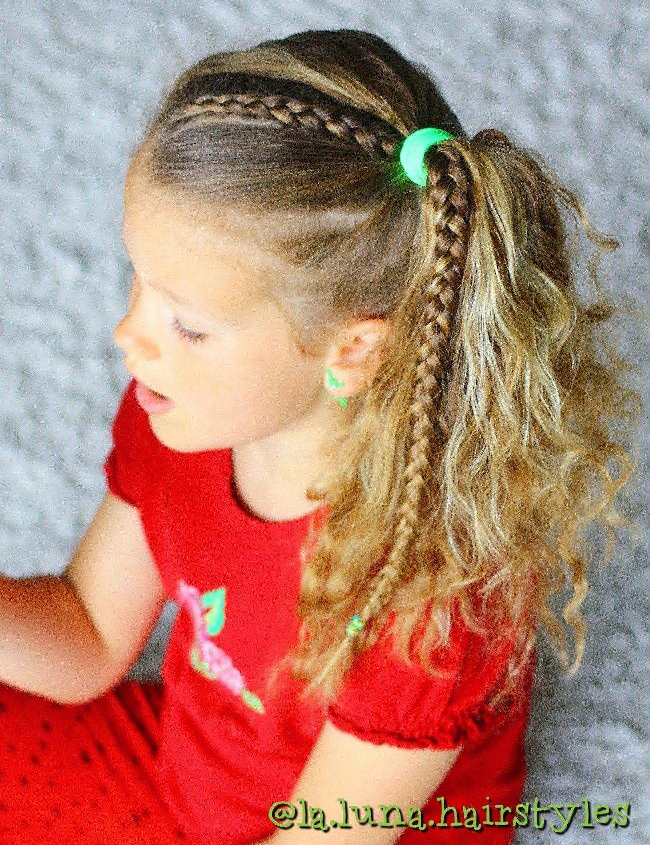 Simple easy hairstyle #easyhairstylesforwork | Braided hairstyles easy, Girls hairstyles easy ...