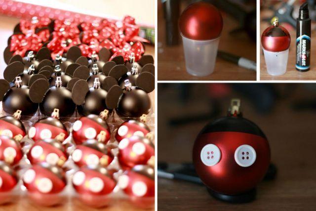 Boule Noel Photo 11 boules de Noël à fabriquer | Mickey mouse christmas, Christmas