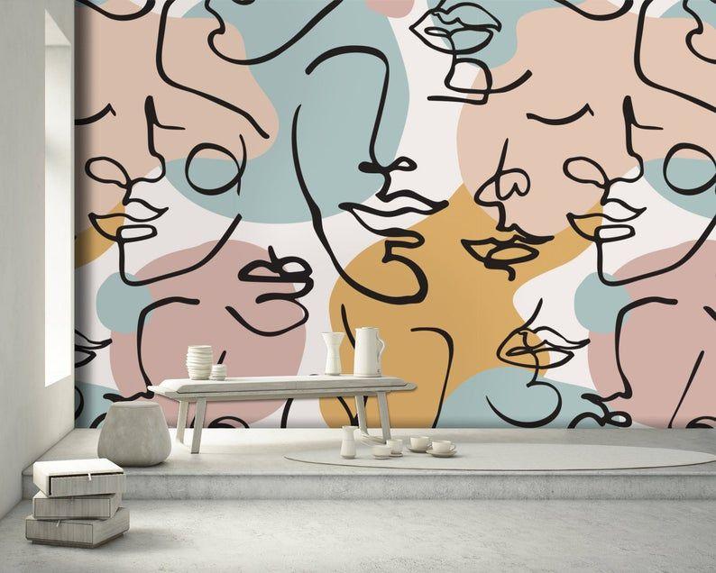Art Wallpaper Self Adhesive Peel and Stick Abstrac
