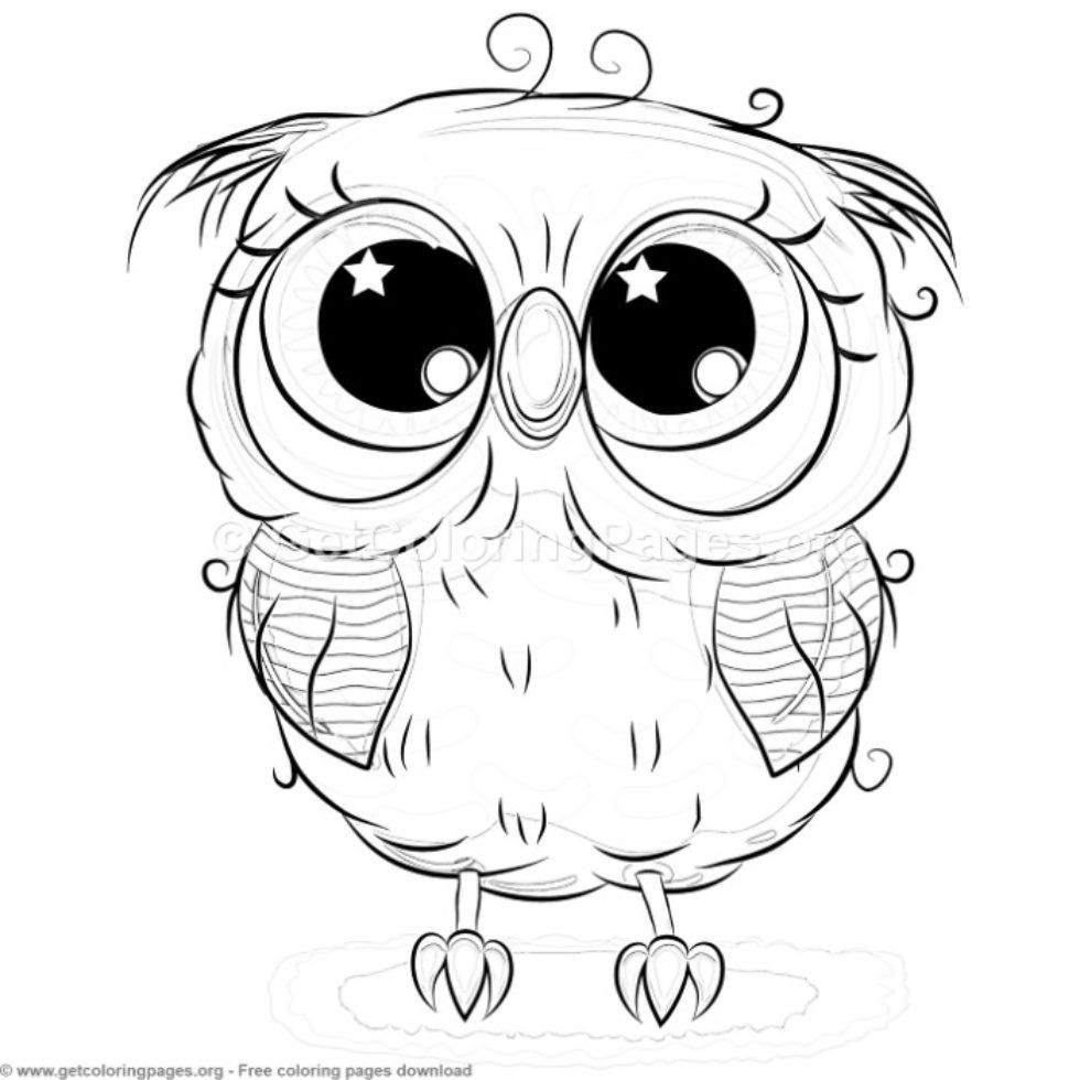 cute owl coloring pages free – GetColoringPages.org | Owl ...
