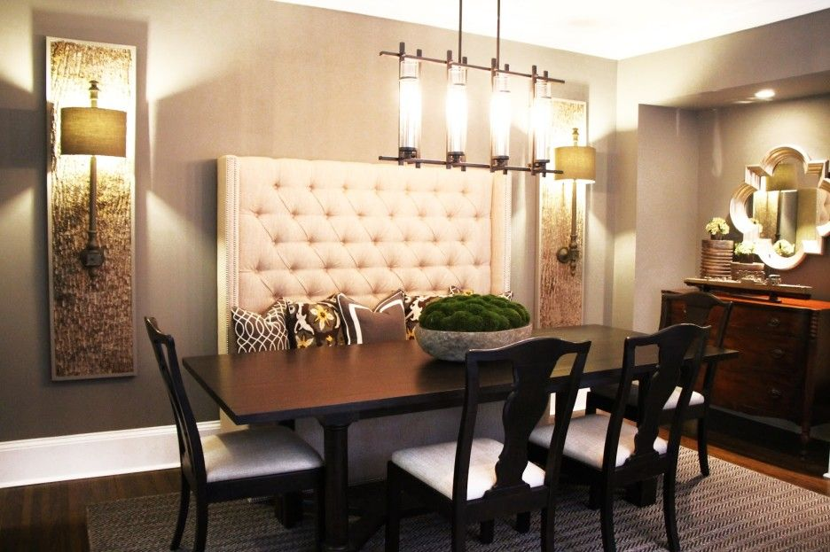 Image Result For High Back Bench Seat Dining Kitchen