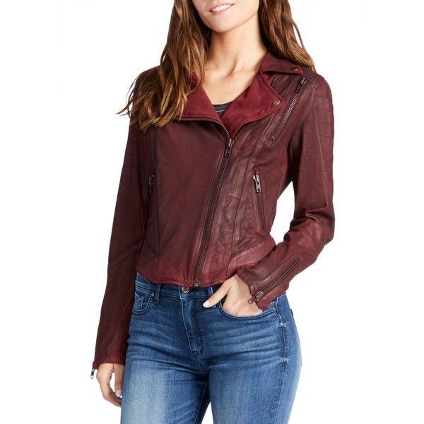 William Rast Womens Leather Moto Jacket Leather Jacket