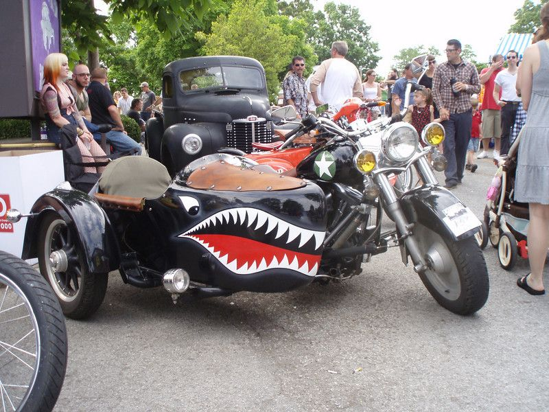 I want a side car bike as well. This has the perfect paint job for