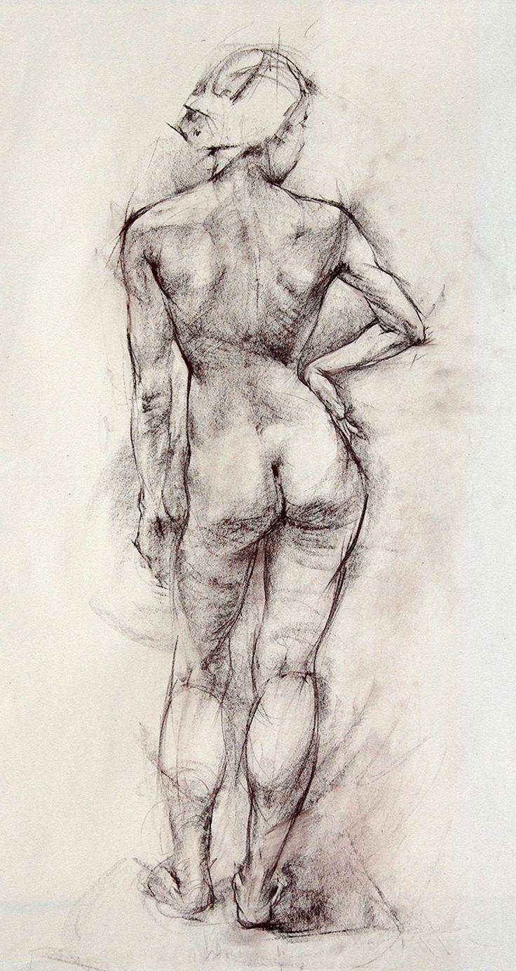 Nude female figure drawing by karaul on deviantart
