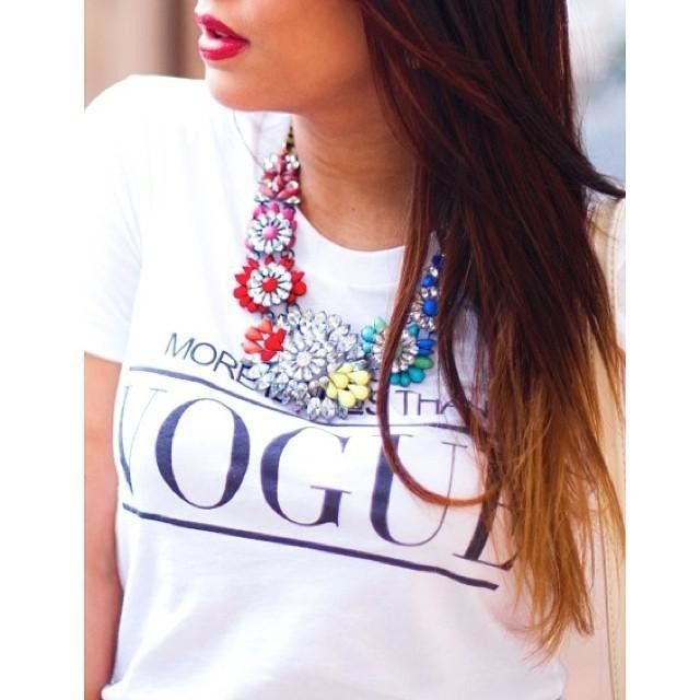 Our Viva Multi Necklace to start your week off bright!  (worn by: @Mandy Paulino)