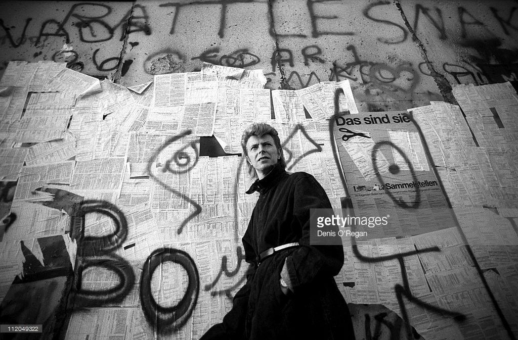 David Bowie at the Berlin Wall, 1987.