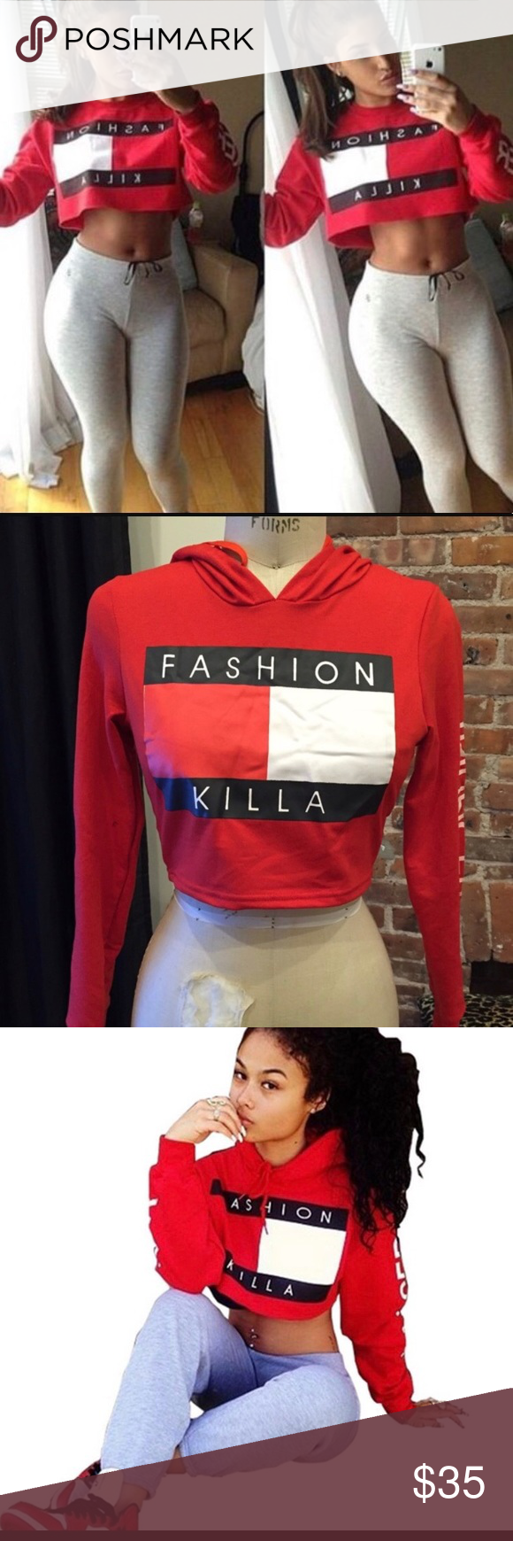 236395bbf1f33 Fashion killa cropped hoodie small and medium Fashion killa cropped hoodie  it is a size medium