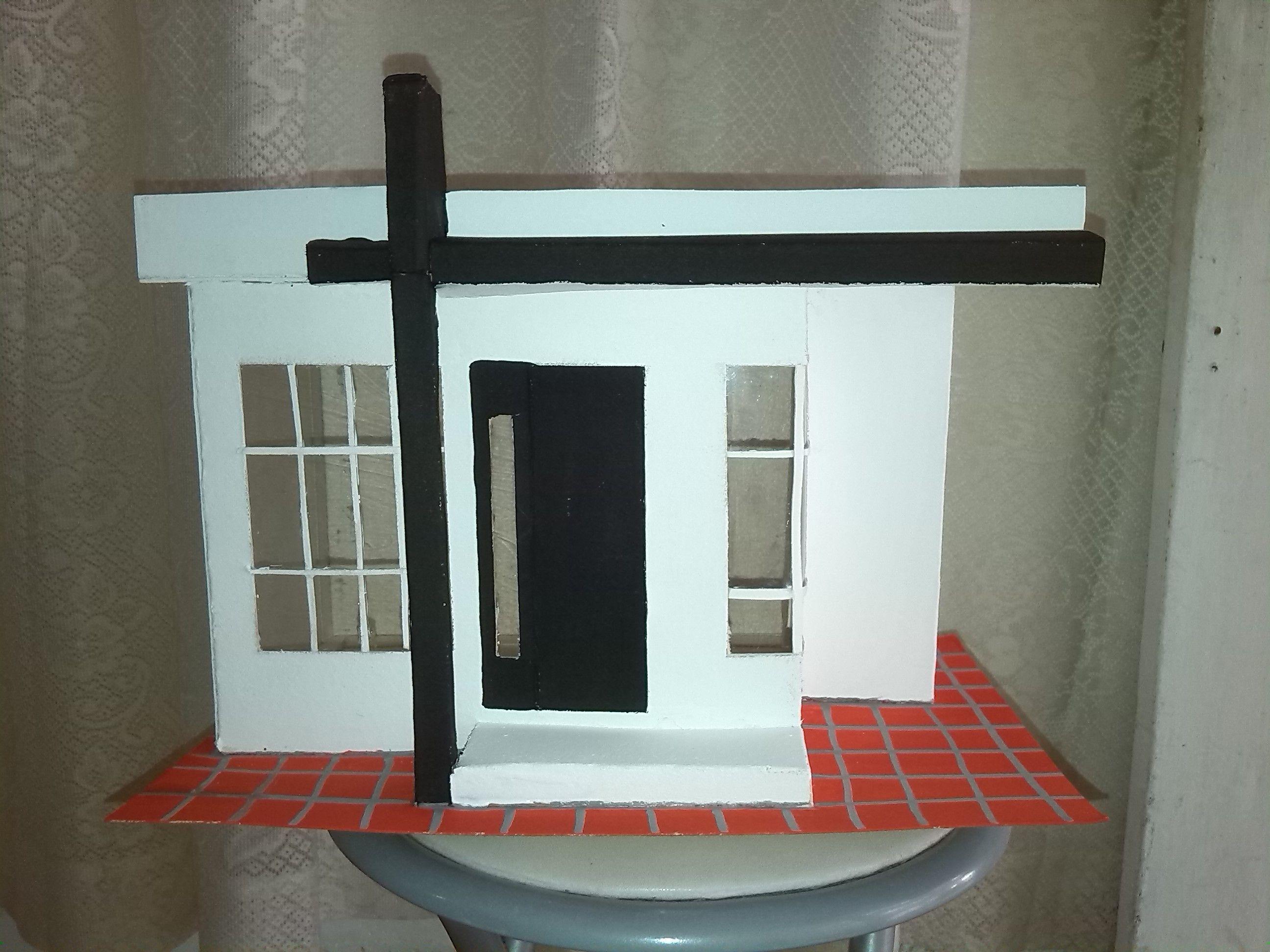 Maquetas escolares Fachada de casas, elaborada en material ...