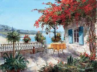 Раскраски по номерам столик у дома | Садово-парковое ...