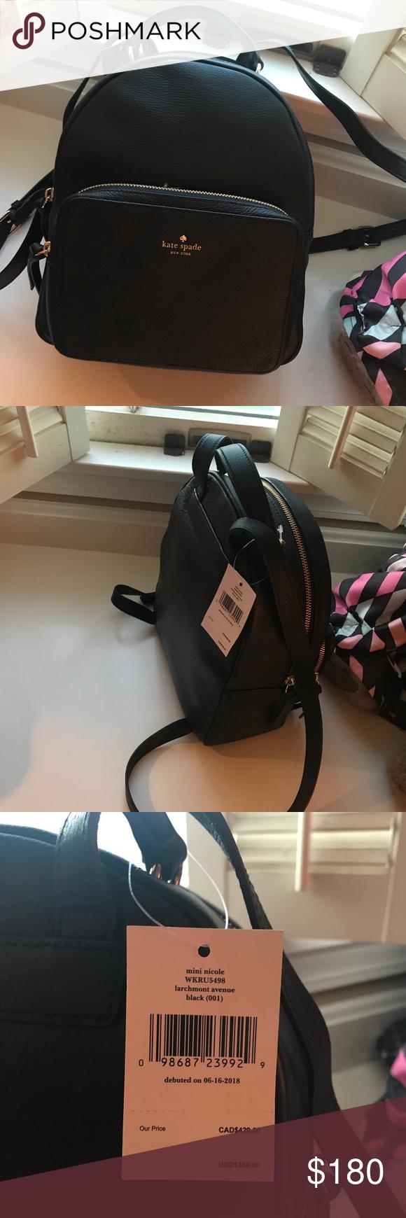 0311d718f9db Kate Spade black backpack Mini Nicole larchmont Avenue kate spade Bags  Backpacks