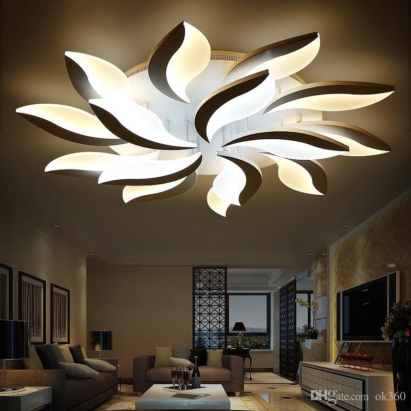 2020 New Design Acrylic Modern Led Ceiling Lights For Living Study Room Bedroom Lampe Plafond Avize Indoor Ceiling Lamp From Ok360 98 58 Dhgate Com Modern Led Ceiling Lights Led Ceiling Lights Ceiling Lights