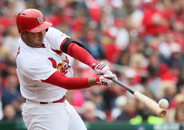 A nice shot showing the ball coming off of Jhonny Peralta's bhat.