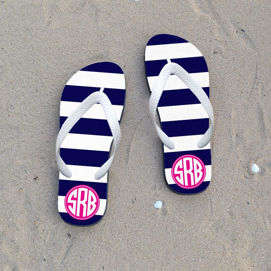 0b7cb286d5a51 Custom Flip Flops Wedding Flip Flops Personalized Flip Flops with Monogram  or Name For Bridesmaid