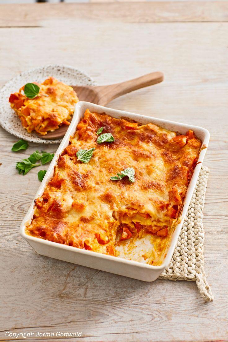 Kürbis-Lasagne mit Tomaten #repashalloween
