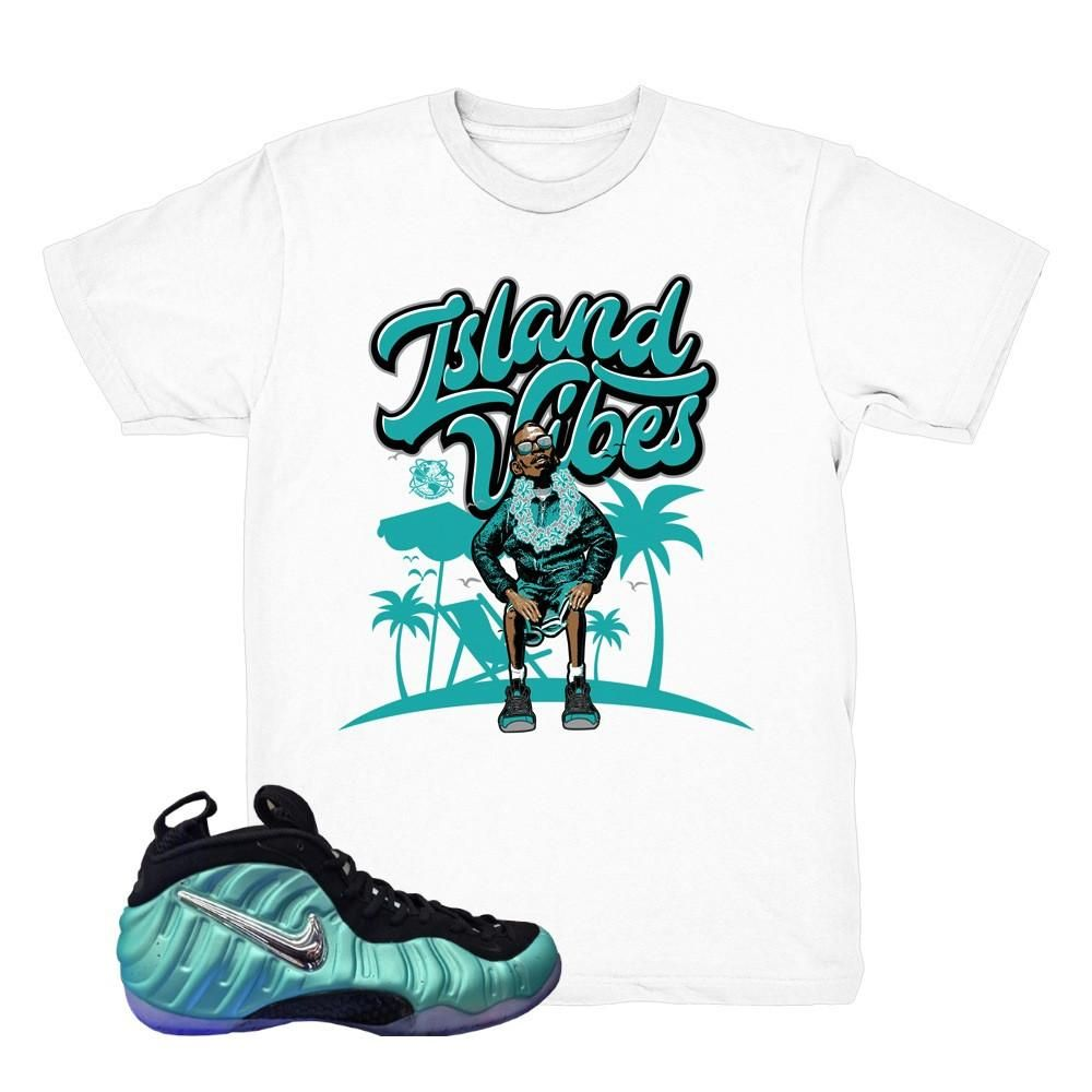 "bccbd402b0bab ... Nike Air Foamposite Island Shirt  Foamposite island green sweaters  match foam sneakers. Nike Air Foamposite Pro "" ..."