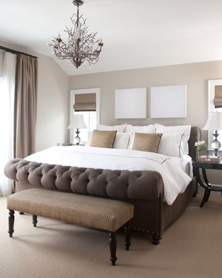 Taupe White Sophisticated Today Wohnen Schlafzimmer