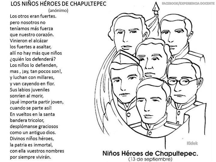 Poema Los Ninos Heroes De Chapultepec Ninos Heroes De Chapultepec Los Ninos Heroes Poemas Para Ninos