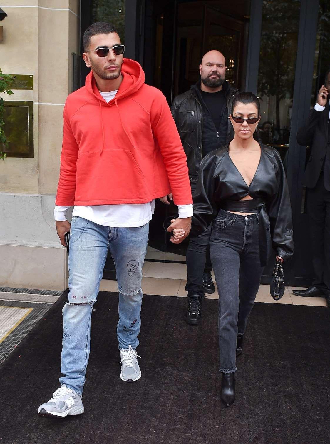 Kourtney Kardashian and boyfriend Younes Bendjima are seen ...