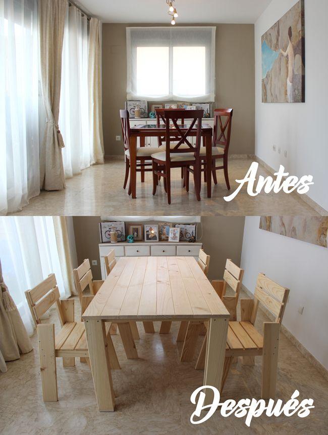 Parte 2 de nuestro proyecto comedor montamos las sillas for Muebles lufe