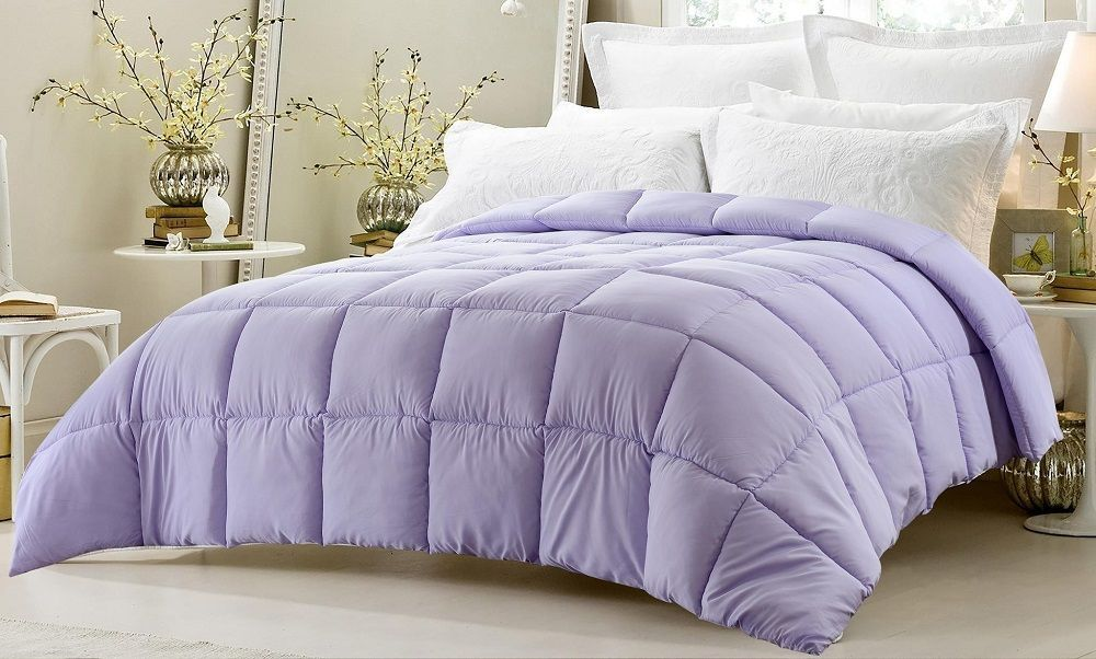 Light Purple Comforter Oversized High Quality Down Alternative