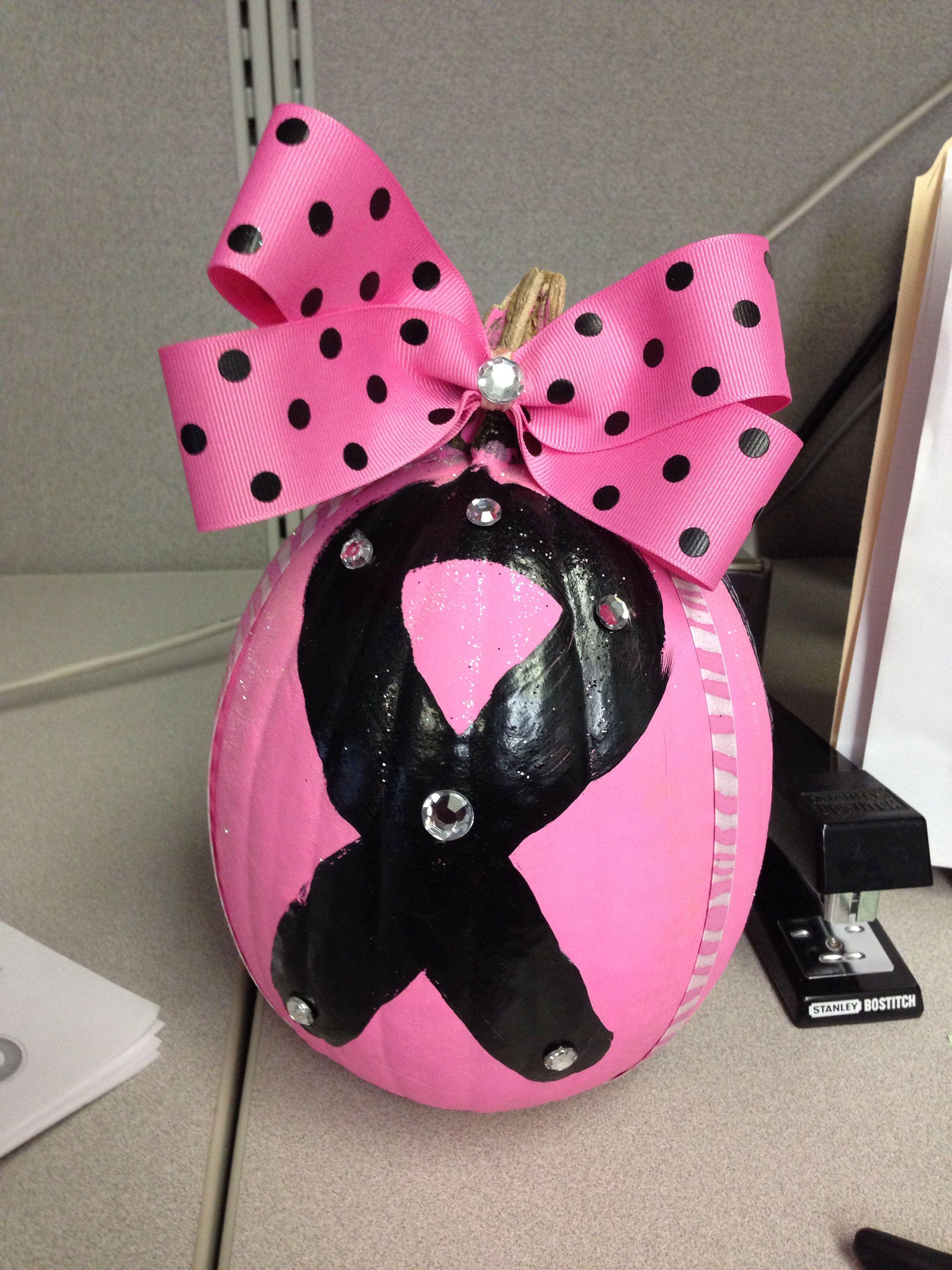 Breast cancer awareness pumpkin!
