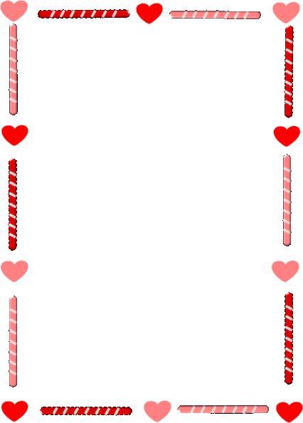 christmas border word template