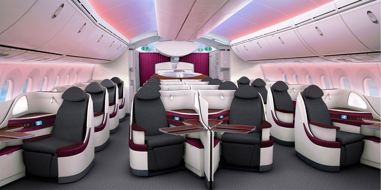 Qatar Airways unveils Dreamliner seats